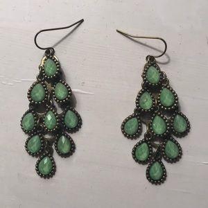 Mint green earrings!